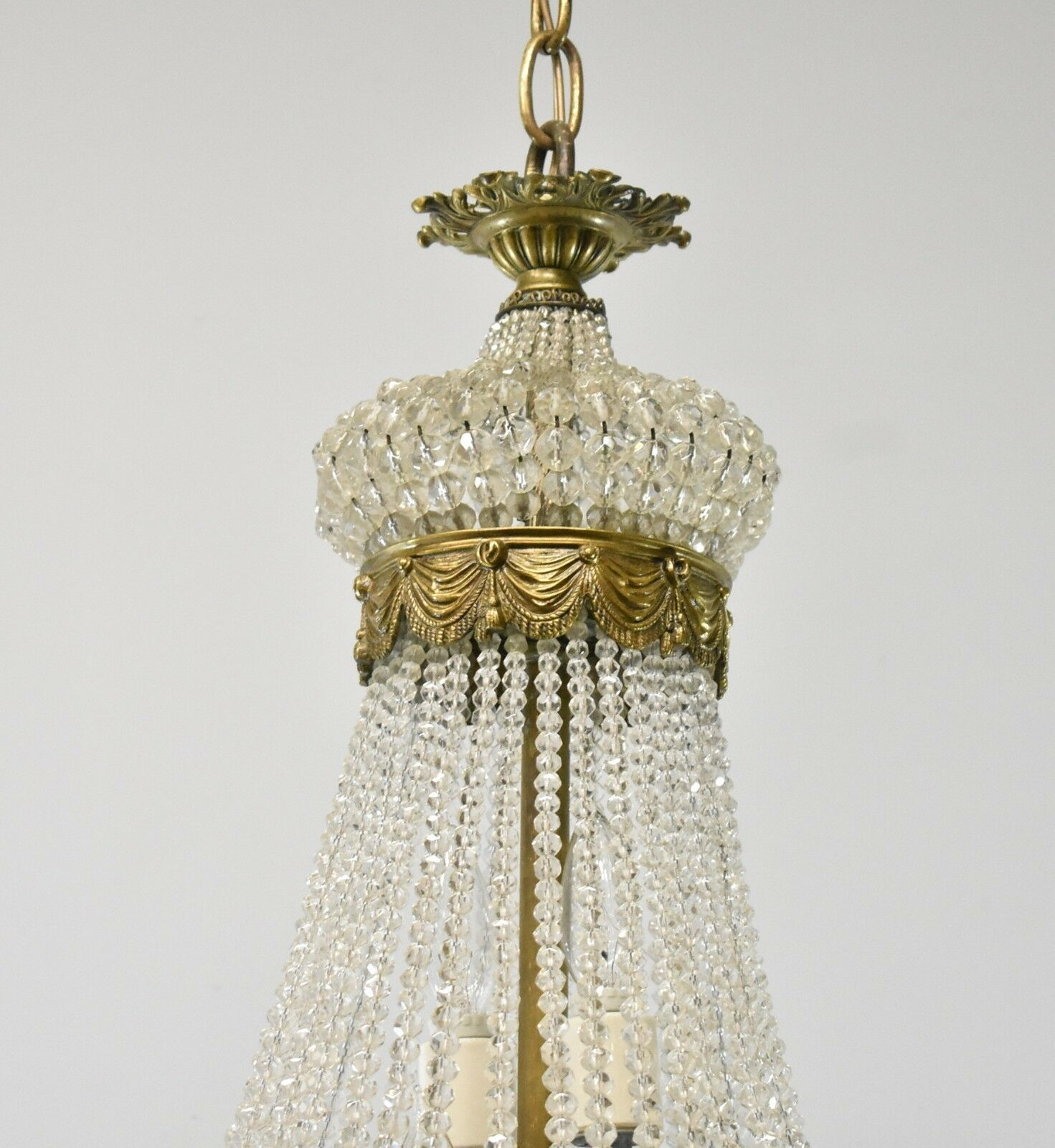 ... Antique-French-Style-Crystal-Chandelier-Light-Fixture-with- ... - Antique French Style Crystal Chandelier Light Fixture With Bronze