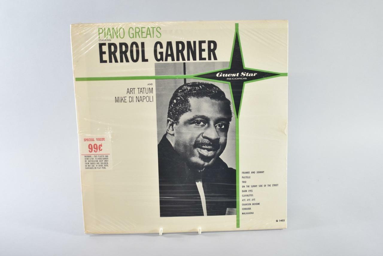 Jazz Piano Greats Errol Garner Art Tatum Vinyl Lp Guest