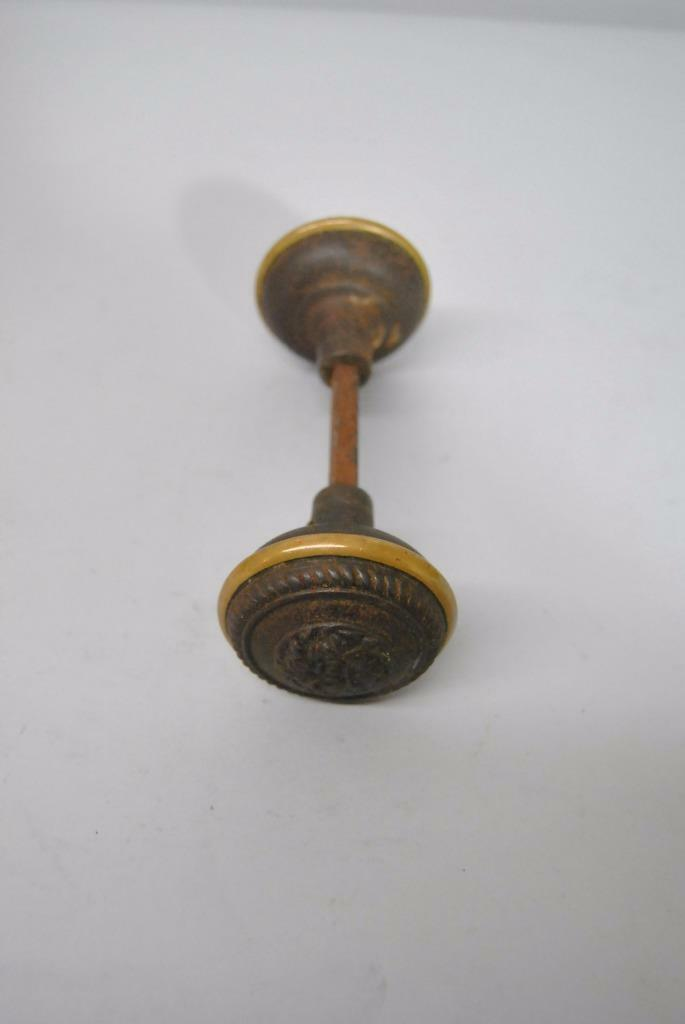 Antique Set Of Brass Victorian Knobs Handle Hardware