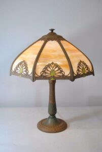 Antique-Bent-Slag-Glass-8-Panel-Table-Lamp-Two-Sockets-A-7-R-Co-263234513961-12