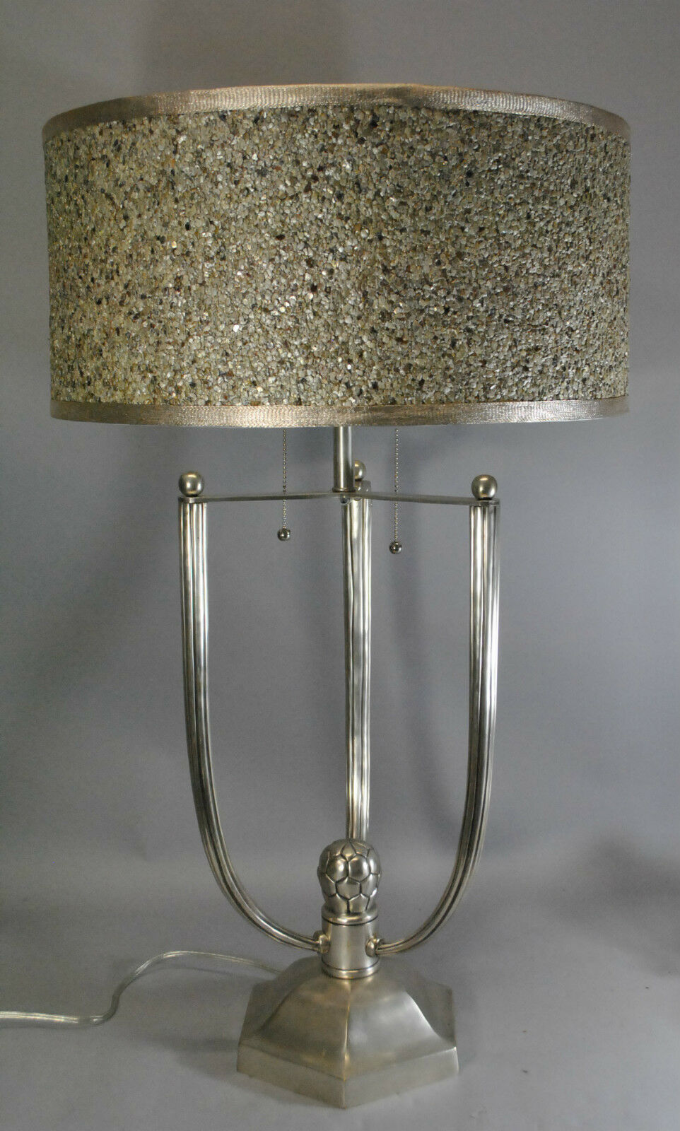 Frederick cooper contemporary silver tone table lamp 191741908423