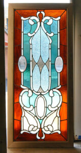 Victorian-Stained-and-Beveled-Leaded-Glass-Window-in-Aqua-and-Rootbeer-192118116443