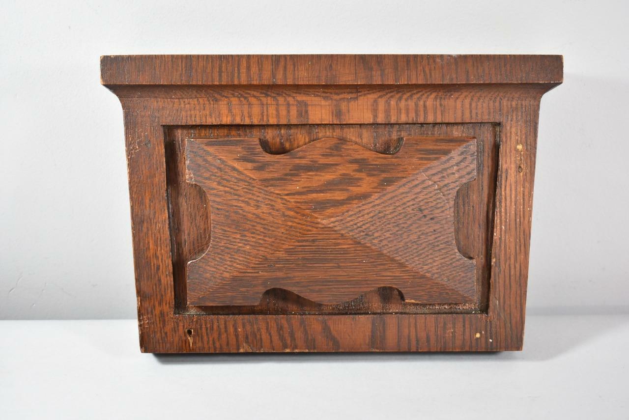 4-ANTIQUE-OAK-PEDIMENT-END-CAPS-DOOR-TRIM- - 4 ANTIQUE OAK PEDIMENT END CAPS DOOR TRIM SURROUND Leffler's Antiques