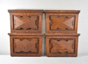4-ANTIQUE-OAK-PEDIMENT-END-CAPS-DOOR-TRIM-SURROUND-263013300784