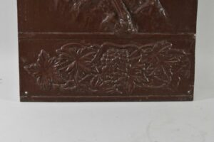 Antique-Victorian-Pair-Iron-Wall-Panels-Pan-With-Flute-Grape-Vine-Buschemeye-NY-192517597864-4
