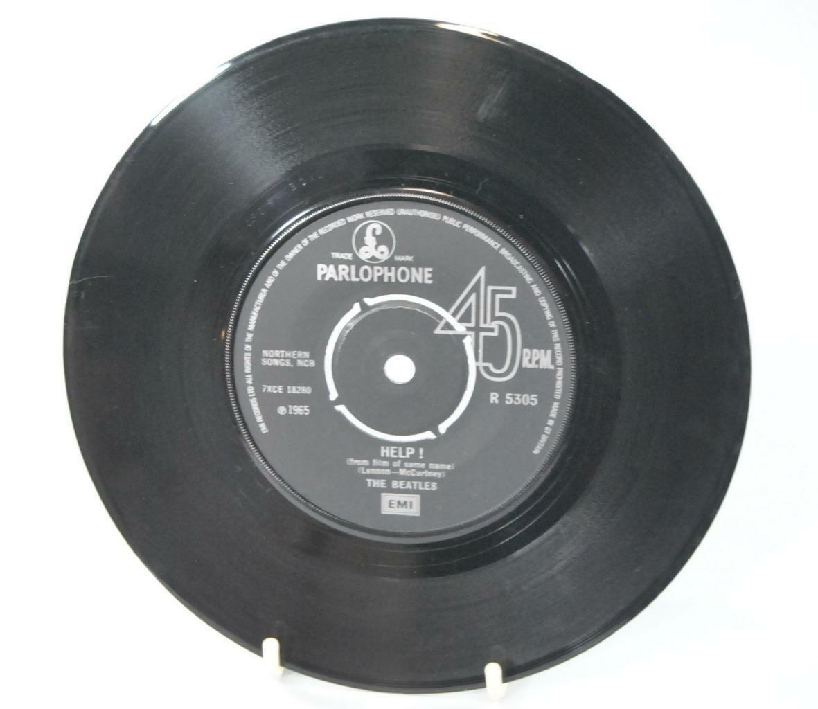Emi Records 45 Rpm Record The Beatles Help I M Down