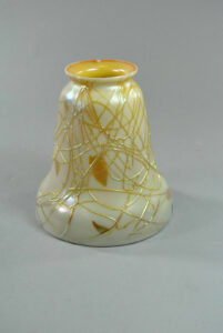 Opalescent-Art-Glass-Shade-with-Aurene-Interior-Applied-Gold-Glass-Threading-261417856664