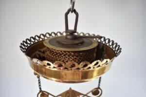 Antique-Kerosene-Hanging-Light-Cranberry-Bullseye-Shade-Cut-Crystals-Blue-Jewels-192580166845-10