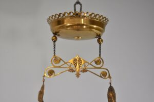 Antique-Kerosene-Hanging-Light-Cranberry-Bullseye-Shade-Cut-Crystals-Blue-Jewels-192580166845-3