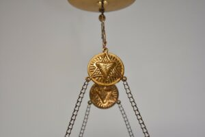 Antique-Kerosene-Hanging-Light-Cranberry-Bullseye-Shade-Cut-Crystals-Blue-Jewels-192580166845-5