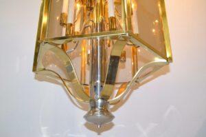 BRASS-CHROME-6-PANEL-12-LIGHT-CHANDELIER-LIGHT-FIXTURE-BY-FREDERICK-RAYMOND-262064052595-3