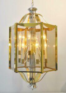 BRASS-CHROME-6-PANEL-12-LIGHT-CHANDELIER-LIGHT-FIXTURE-BY-FREDERICK-RAYMOND-262064052595-5