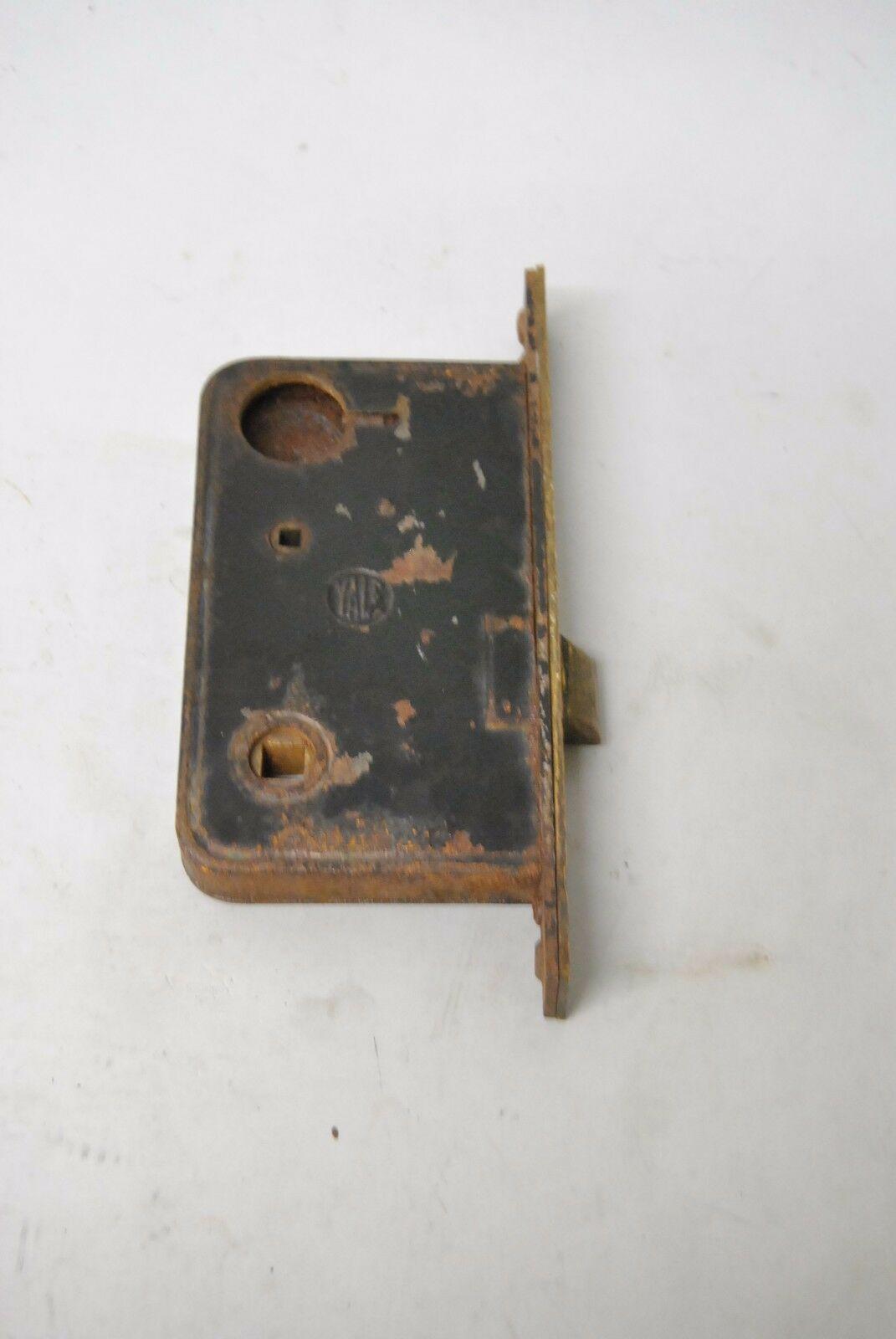 Victorian Yale Heavy Cast Brass Door Plates Knob Amp Lock