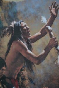 Limited-Edition-Signed-Print-by-Howard-Terpning-Medicine-Man-of-the-Cheyenne-263389352516-3