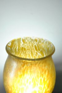 Loetz-Candia-Papilon-Chalice-Blue-Iridescent-Vase-9-58-Tall-261469713806-4