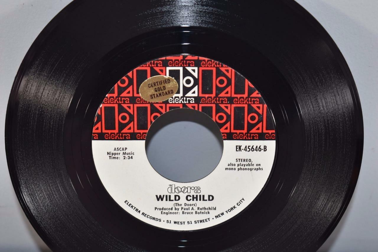 Doors-Rock-45-RPM-Elektra-Records-Wild-Child- & Doors Rock 45 RPM Elektra Records Wild Child u0026 Touch Me | Leffleru0027s ...