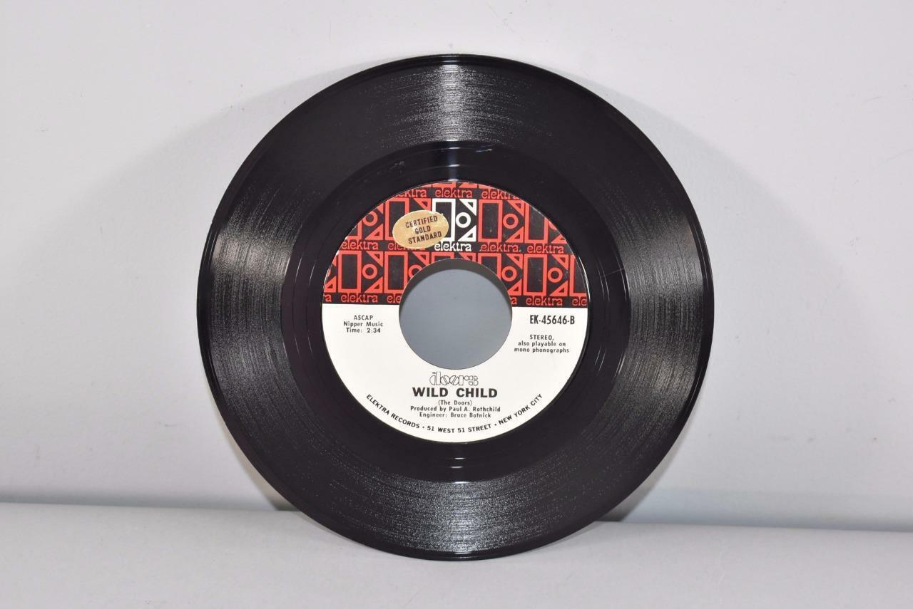 Doors-Rock-45-RPM-Elektra-Records-Wild-Child- & Doors Rock 45 RPM Elektra Records Wild Child \u0026 Touch Me ... Pezcame.Com