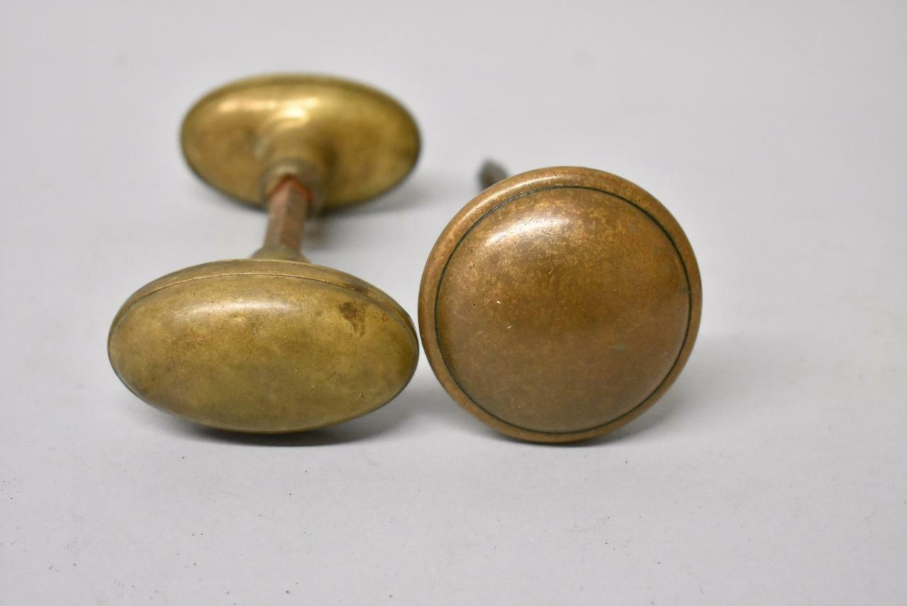 Group Antique Brass Door Knobs Handles Parts 262990287938