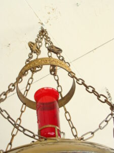Antique-Gothic-Revival-Cathedral-Hanging-Brass-Candle-Holder-261810735209-3