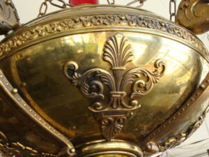 Antique-Gothic-Revival-Cathedral-Hanging-Brass-Candle-Holder-261810735209-5