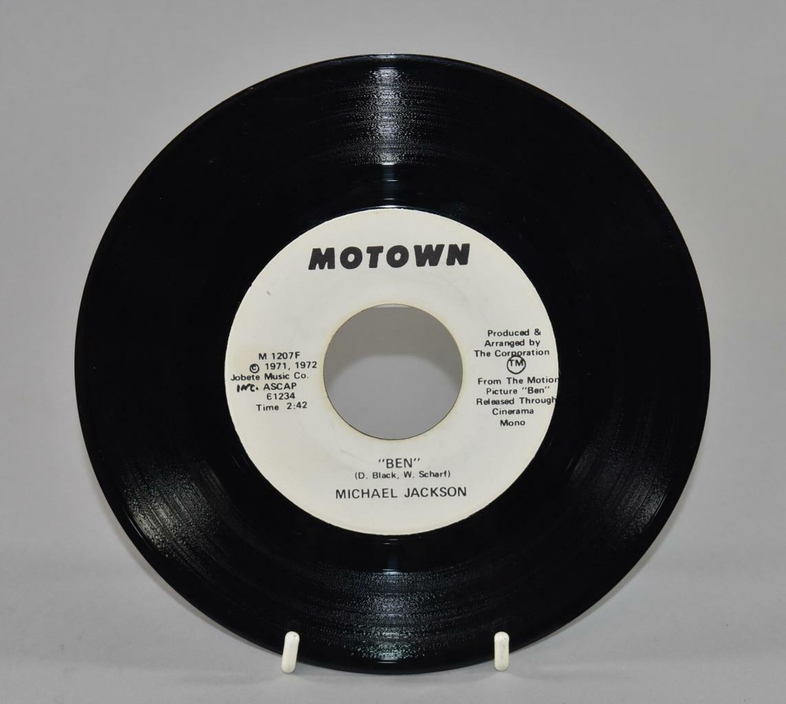 Motown Michael Jackson Ben Promo Vinyl 45rpm 1971 Amp 1972