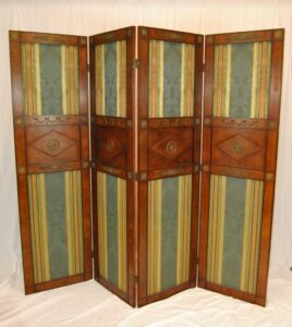 Regency-Style-Burl-Wood-Four-Panel-Screen-by-Mario-Buatta-for-Widdicomb-192178600259