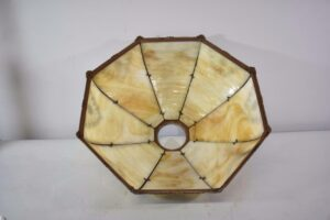 Antique-Bent-Slag-Glass-8-Panel-Table-Lamp-Two-Sockets-A-7-R-Co-263234513961-11