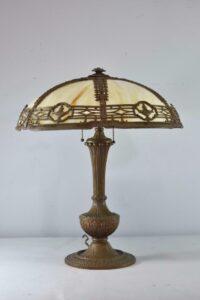 Antique-Caramel-Bent-Slag-Glass-Panel-Table-By-Miller-242-263389311061