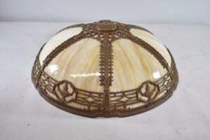 Antique-Caramel-Bent-Slag-Glass-Panel-Table-By-Miller-242-263389311061-9