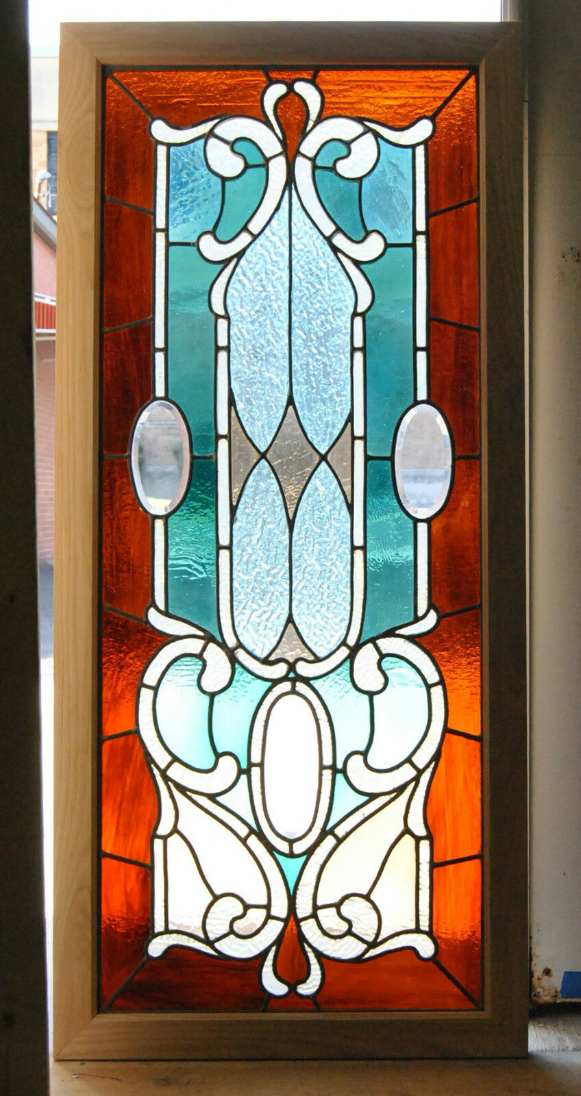 Victorian Stained And Beveled Leaded Gl Window In