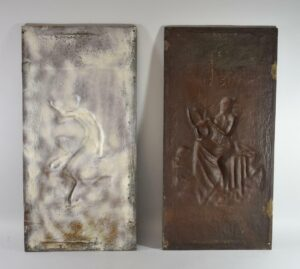 Antique-Victorian-Pair-Iron-Wall-Panels-Pan-With-Flute-Grape-Vine-Buschemeye-NY-192517597864-6