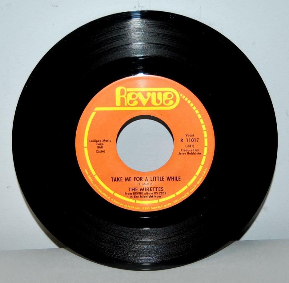 VG+ The Mirettes Soul 45 Record