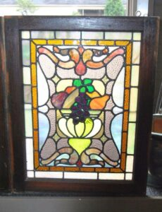 PAIR-OF-AMERICAN-STAINED-GLASS-WINDOWS-WITH-FRUIT-BASKET-DETAIL-1910-191908833355-2