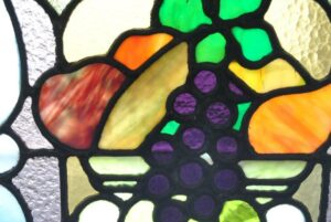 PAIR-OF-AMERICAN-STAINED-GLASS-WINDOWS-WITH-FRUIT-BASKET-DETAIL-1910-191908833355-9