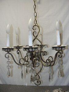 Vintage-Italian-Brass-and-Glass-Chandelier-Light-Fixture-192043947285-2