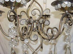 Vintage-Italian-Brass-and-Glass-Chandelier-Light-Fixture-192043947285-4