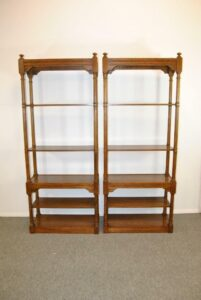 6-SHELF-JACOBEAN-OAK-FREE-STANDING-BOOKSHELF-BY-HEKMAN-262051493446