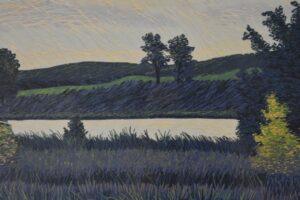 Gordon-Mortensen-Signed-Limited-23130-Woodcut-Reduction-October-Sunset-1981-192419728296-7
