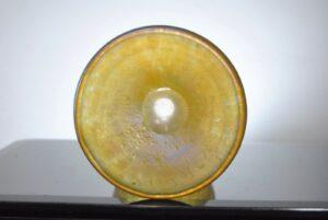 Loetz-Candia-Papilon-Chalice-Blue-Iridescent-Vase-9-58-Tall-261469713806-3