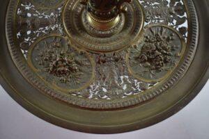 Antique-Victorian-Compote-Etched-Cut-Gass-Cast-Bronze-Lion-Heads-Angels-1880s-263654167477-11