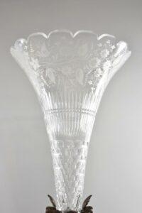 Antique-Victorian-Compote-Etched-Cut-Gass-Cast-Bronze-Lion-Heads-Angels-1880s-263654167477-4
