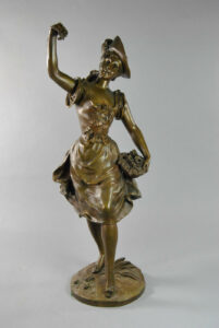 Victorian-Female-Bronze-of-Flower-Girl-S-Kingsburger-192041940887