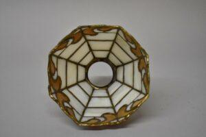 Antique-Leaded-Slag-Glass-Brass-Single-Socket-Porch-Hall-Pendant-263400715988-10