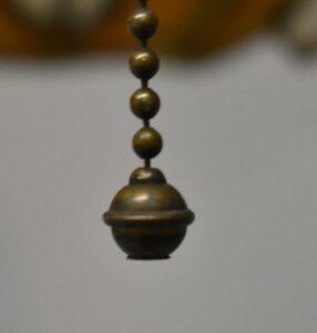 Antique-Leaded-Slag-Glass-Brass-Single-Socket-Porch-Hall-Pendant-263400715988-11