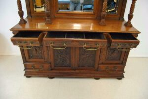 Antique-Renaissance-Revival-Walnut-Buffet-Carved-Details-Beveled-Glass-1890s-263359464358-4