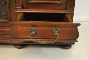 Antique-Renaissance-Revival-Walnut-Buffet-Carved-Details-Beveled-Glass-1890s-263359464358-5