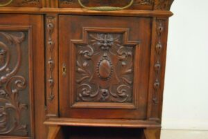 Antique-Renaissance-Revival-Walnut-Buffet-Carved-Details-Beveled-Glass-1890s-263359464358-6