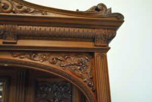 Antique-Renaissance-Revival-Walnut-Buffet-Carved-Details-Beveled-Glass-1890s-263359464358-7
