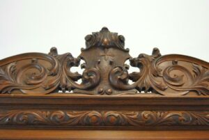 Antique-Renaissance-Revival-Walnut-Buffet-Carved-Details-Beveled-Glass-1890s-263359464358-8