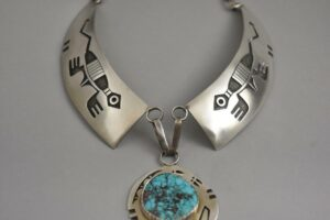 Sterling-Silver-Turquoise-Hopi-Collar-Necklace-By-Bueford-Dawahoya-192628224048-2